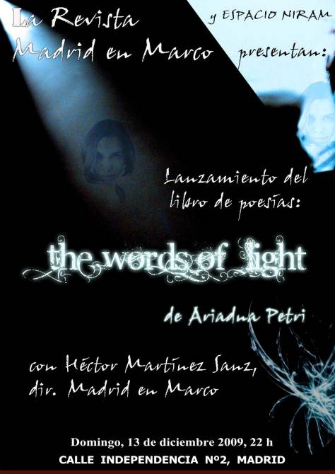 "Presentación del libro de poesía ""The Words of Light"" de Ariadna Petri en Espacio Niram"