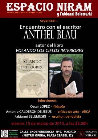 Encuentro con el escritor Anthel Blau