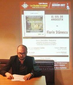 Alex Belemuski, Presentación El Sol de Andesita de Florin Stanescu